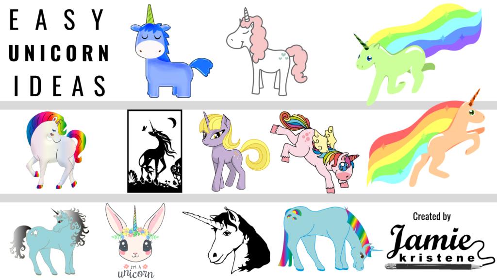30 Easy Unicorn Drawing Ideas Jamiekristene