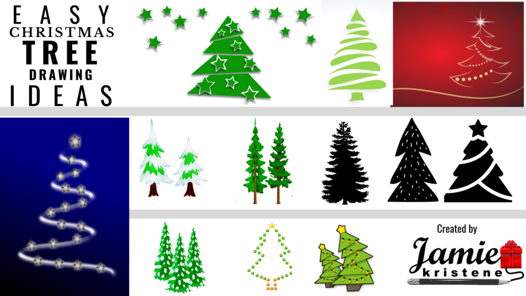 50 Easy Ways To Draw A Christmas Tree Jamiekristene