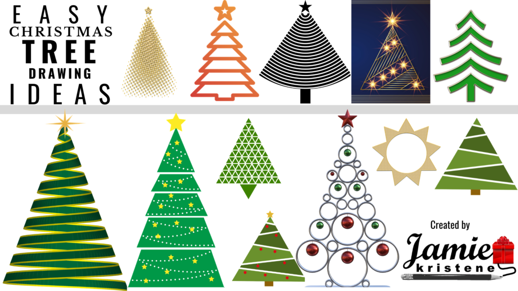 50 easy ways to draw a christmas tree jamiekristene 50 easy ways to draw a christmas tree